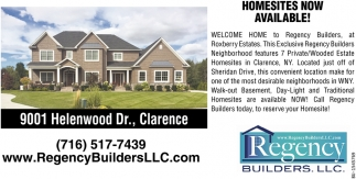 Homesites Now Available!