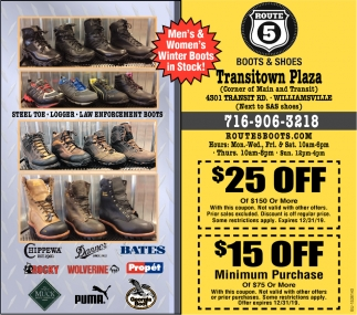 Men's & Women's Winter Boots in Stock!