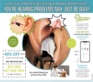 You're Hearing Problems May Just be Wax!