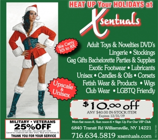 Heat Up Your Holidays at Xsentuals