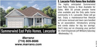 S. Lancaster Patio Home Now Available