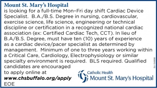 Cardiac Device Specialist