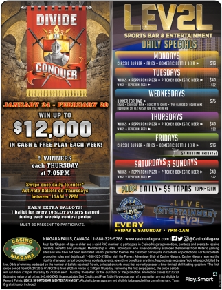 Win Up to $12,000 in Cash & Free Play Each Week!