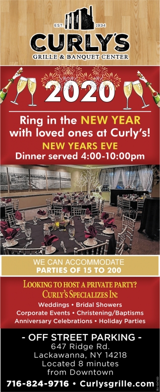 Ring in the New Year with Loved Ones at Curly's!