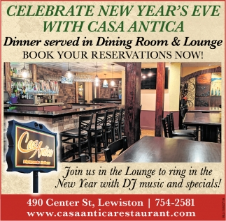 Celebrate New Year's Eve With Casa Antica