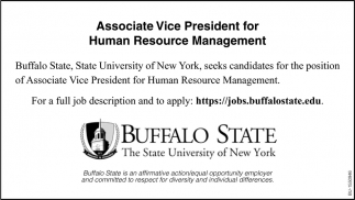 Associate Vice President for Human Resource Management