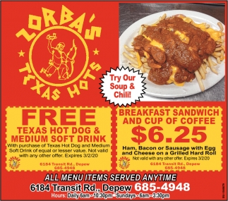 Try Our Soup & Chili!