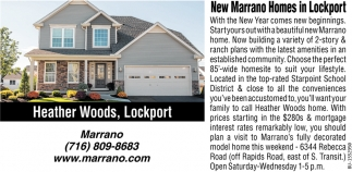 New Marrano Homes in Lockport