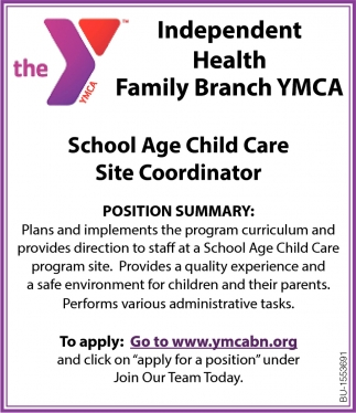School Age Child Care Site Coordinator