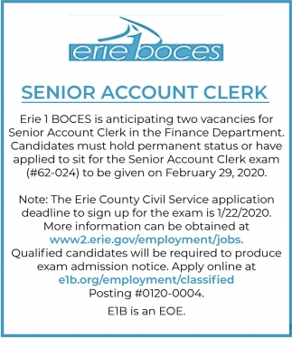 Senior Account Clerk