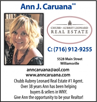 Over 38 Years Ann has Been Helping Buyers & Sellers in WNY