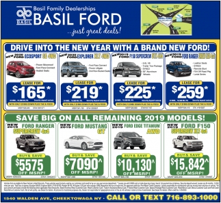Drive Into the New Year with a Brand New Ford!