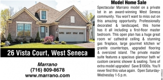 Model Home Sale