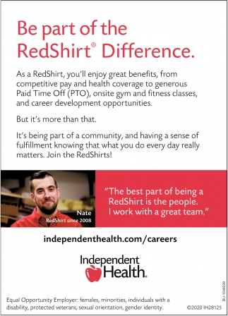Be Part of the RedShirt Difference
