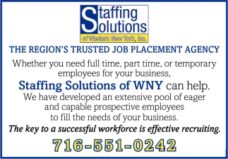 The Region's Trusted Job Placement Agency