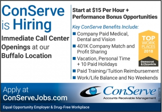 ConServe is Hiring