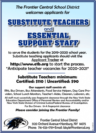 Substitute Teachers and Essential Support Staff