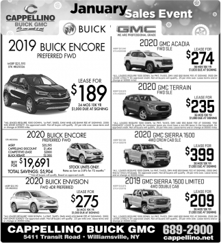 January Sales Event