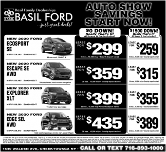 Auto Show Savings Start Now!