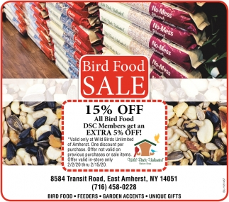 Bird Food Sale
