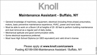 Maintenance Assistant