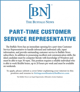 Part-Time Customer Service Representative