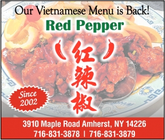 Our Vietnamese Menu is Back!