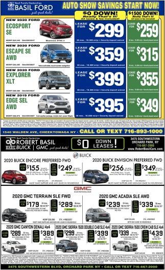 Auto Show Savings Start Now
