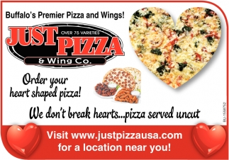 Order your Heart Shaped Pizza!
