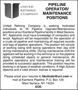Pipeline Operator/Maintenance