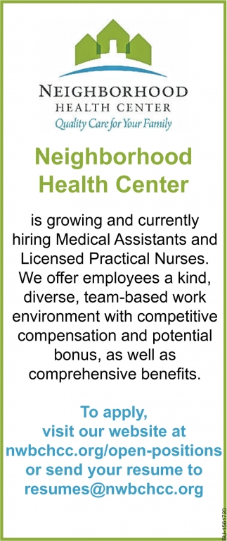 Medical Assistants and LPN