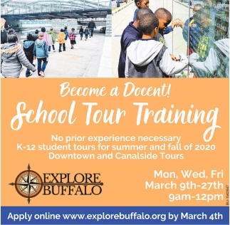 Become a Docent! School Tour Training!