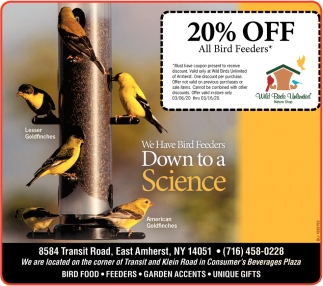 20% OFF All Bird Feeders