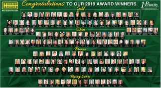 Congratulations to Our 2019 Award Winners