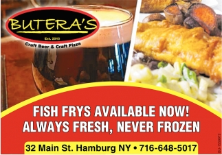 Fish Fry's Available Now!