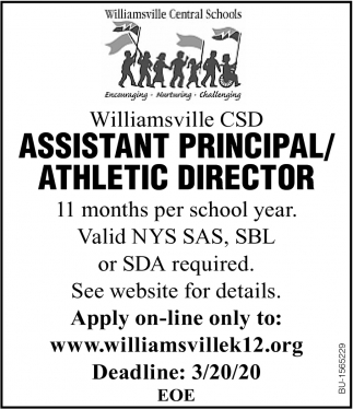 Assistant Principal/Athletic Director