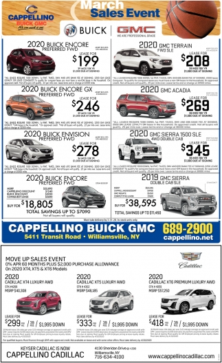March Sales Event
