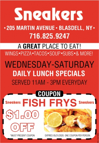 Daily Lunch Specials