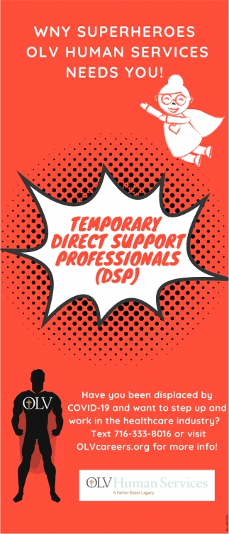 Temporary Direct Support Professionals