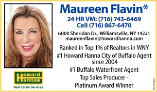 Ranked in Top 1% of Realtors in WNY