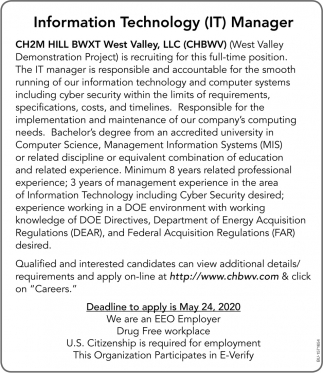 Information Technology (IT) Manager
