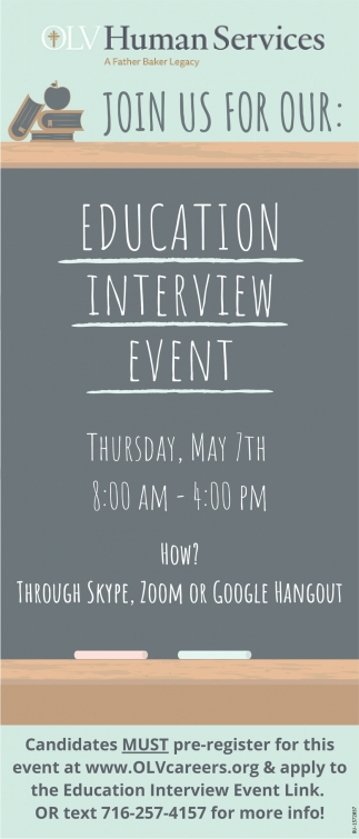 Education Interview Event
