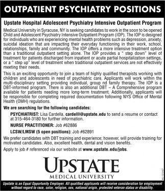 Outpatient Psychiatry Positions