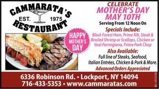 Celebrate Mother's Day May 10th