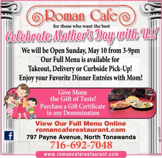 Celebrate Mother's Day with Us