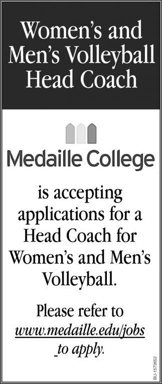 Women's and Men's Volleyball Head Coach