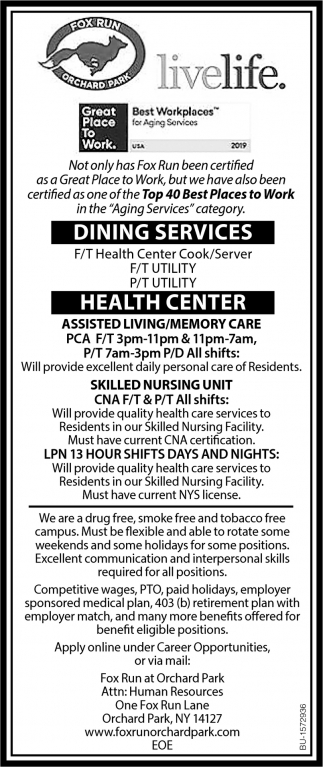 Health Center Cook/Server
