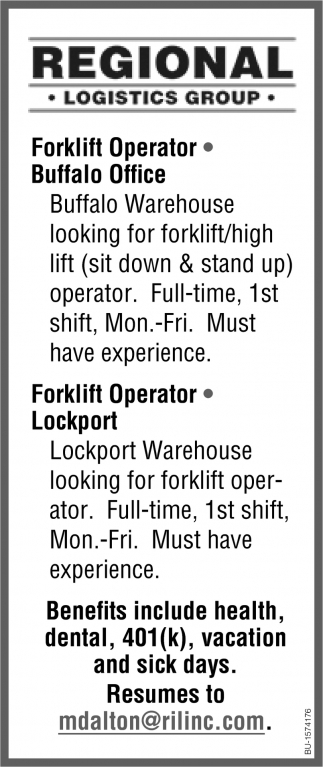 Forkift Operator