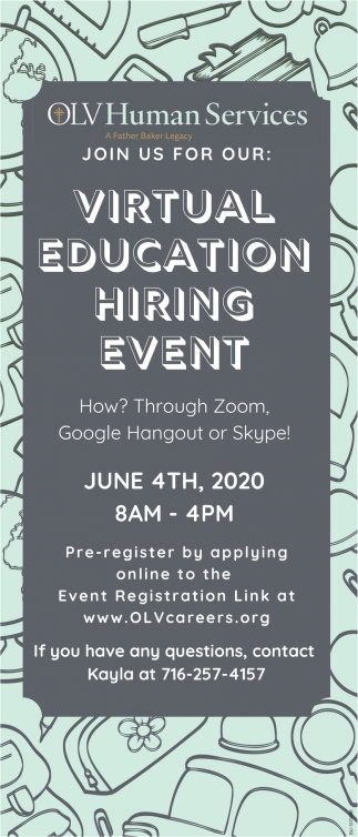 Virtual Education Hiring Event
