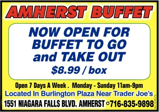 Now Open For Buffet